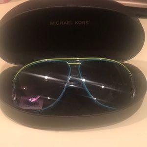 Blue and green michael kors sunglasses